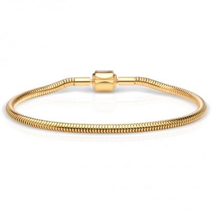 Bering Armband Edelstahl Gold Schlange 615-20-X0