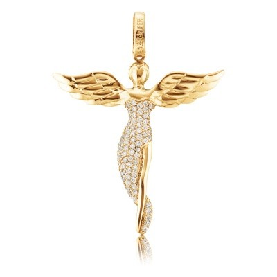 Engelsrufer Silber Gold plated Engel Zirkonia ERP-ANGEL-MG