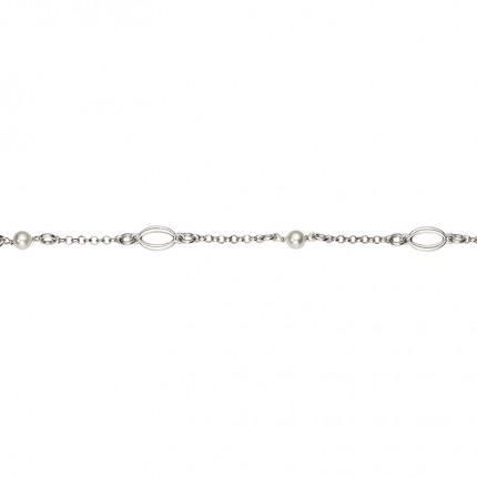 CEM Armband Silber Perle Imitation BAS96303/20