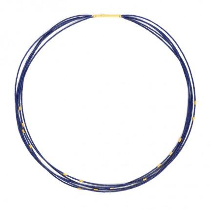 BERND WOLF Collier HELIA Silber Goldplattierung Lapislazuli 85206226-43