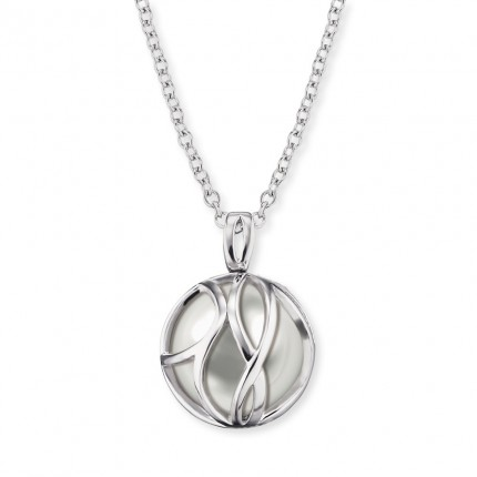 Engelsrufer Kette Silber Glasperle Grau ERN-LILPARADISE-PG