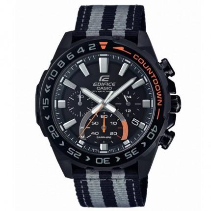 Casio Armbanduhr Edifice Premium Collection Solar Textilband EFS-S550BL-1AVUEF