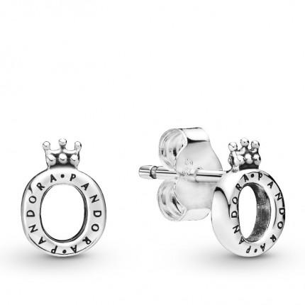 PANDORA Ohrschmuck Silber Polished Crown O 298295