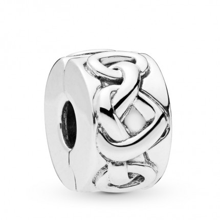 PANDORA Silberelement Clip Knotted Hearts 798035