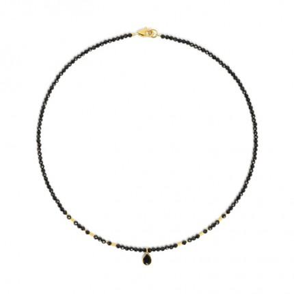 BERND WOLF Collier SEQUENA Silber Goldplattierung Spinell 83905496-43