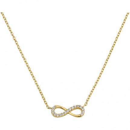 CEM Collier 333/- Gold Unendlichkeit Zirkonia BCO305507