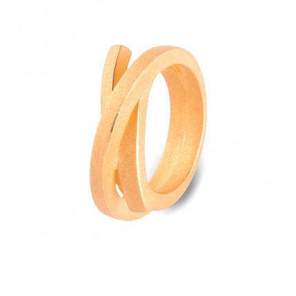 Knotenschmuck Ring 925/- Silber vergoldet RIN 1 go