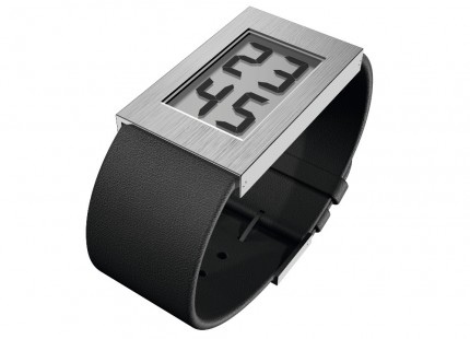 ROSENDAHL Armbanduhr Digital Watch I Large Edelstahl Lederband Schwarz 43280