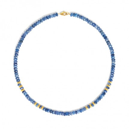 BERND WOLF Collier FANIAS Silber Goldplattierung Kyanit 84485796-43