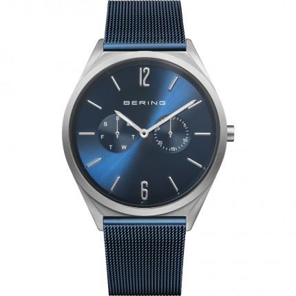 Bering Armbanduhr Unisex Ultra Slim Edelstahl Milanaiseband Blau 17140-307