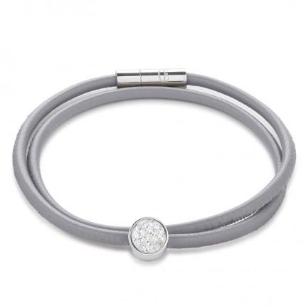 COEUR DE LION Armband Leder Kristalle Pavé 0118/31-1800