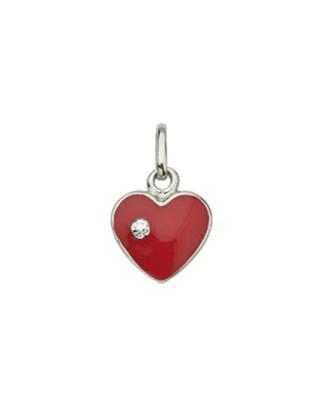 CEM Anhänger Silber Herz Rot Zirkonia BAH 901507