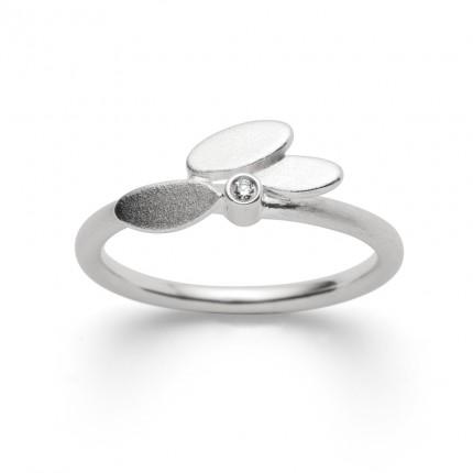 Bastian Inverun Ring 925/- Silber Rhodiniert mit Diamant 27941