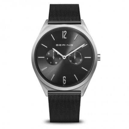 Bering Armbanduhr Unisex Classic Edelstahl Milanaiseband Schwarz 17140-102