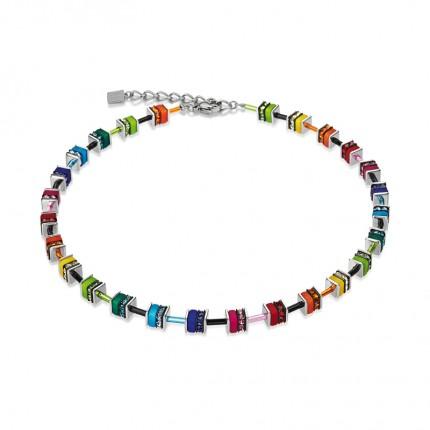 COEUR DE LION Collier Geo Cube Swarovski-Kristalle Small Multicolor 4409/10-1500
