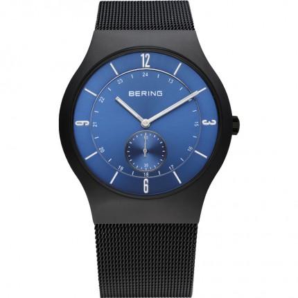 Bering Herrenuhr Classic Slim Quarz Blau/Schwarz 11940-227