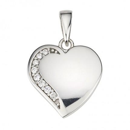 CEM Anhänger Herz Silber Zirkonia BAH904883