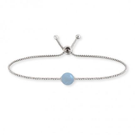 Engelsrufer Armband Silber Rhodiniert Aquamarin ERB-LILGEM-AQ