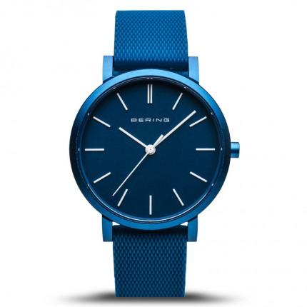 Bering Armbanduhr Unisex Aurora Silikonband Blau 16934-799