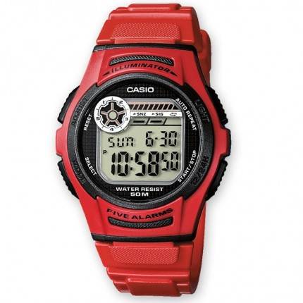 Casio Armbanduhr Collection Rot W-213-4AVES