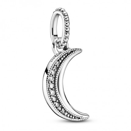 PANDORA Anhänger Silber Sparkling Crescent Moon 399184C01