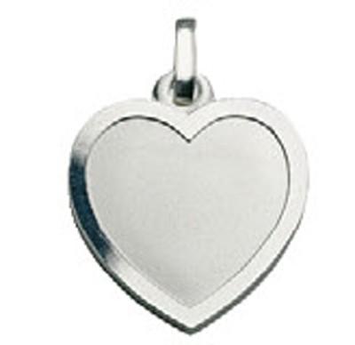 CEM Anhänger Gravurplatte Herz Silber BAH 904719