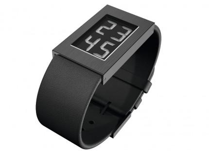 ROSENDAHL Armbanduhr Digital Watch I Small Edelstahl Schwarz Lederband Schwarz 43271
