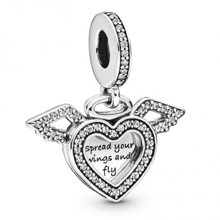 PANDORA Silberelement Heart & Angel Wings 798485C01