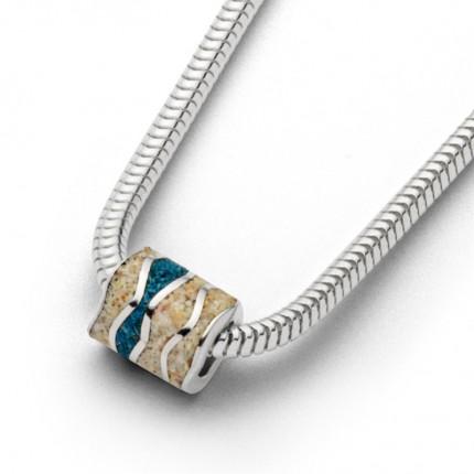 DUR Kette Silber Ebbe & Flut Stein Sand Blau K2514