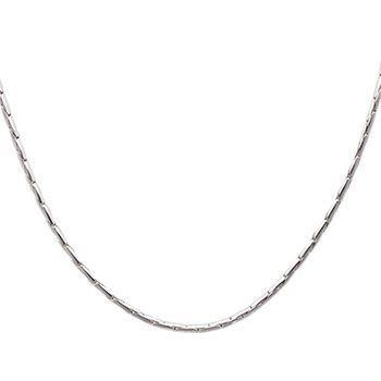 DUR Haferkornkette dick Silber Rhodiniert K2002