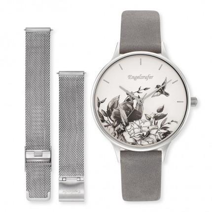 Engelsrufer Armbanduhr Set Wechselband Blume ERWO-FLOWER-01