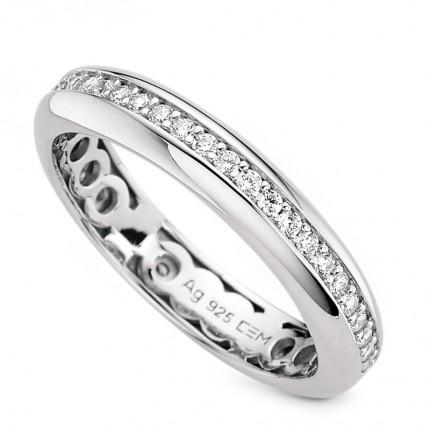 CEM Ring 925/- Silber Zirkonia S-00596R