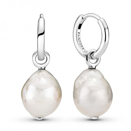 PANDORA Ohrschmuck Silber Pearl Hoop 299426C01