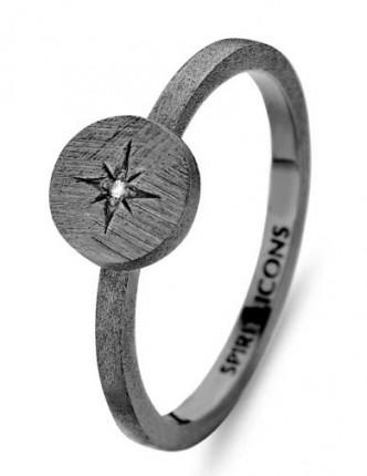 SPIRIT ICONS Ring North Star Silber Rutheniert 53113