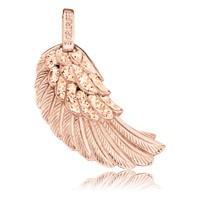 Engelsrufer Flügel Mittel Silber mit Roségold plattiert Crystal Champagner ERW-M-16-ZI-R