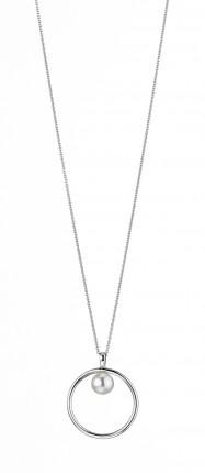 ADRIANA Halskette Silber Rhodiniert Süßwasserperle R169