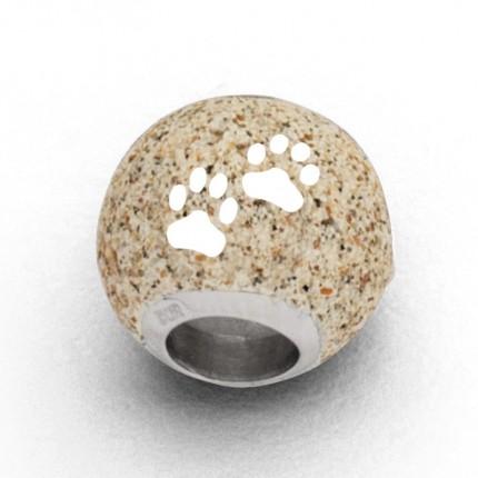 DUR Anhänger Silber Bead Lucky Dog Strandsand P3413