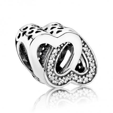 PANDORA Silberelement Verschlungene Herzen 791880CZ