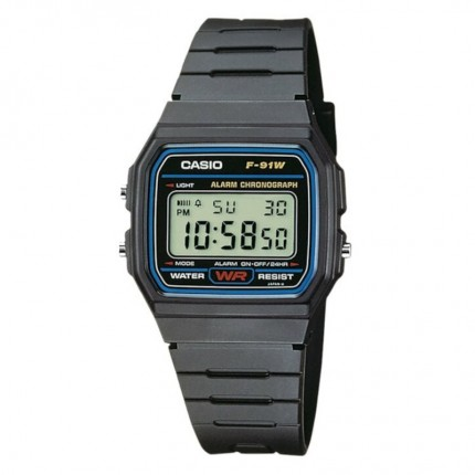 Casio Armbanduhr Vintage Collection Schwarz F-91W-1YEG