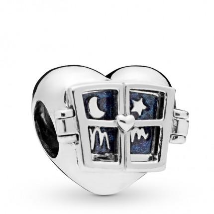 PANDORA Silberelement Window Heart 798006EN63