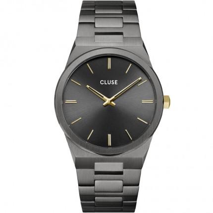 CLUSE Armbanduhr Vigoureux Edelstahl Schwarz Gold CW0101503006