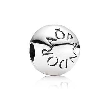 PANDORA Silber-Clipselement Logo 791015