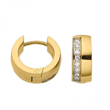 CEM Creolen Titan Gold Zirkonia BCRT01815