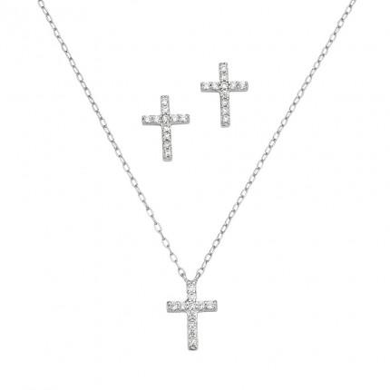 CEM Schmuckset Silber Kreuz BGT906200