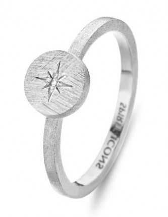 SPIRIT ICONS Ring North Star Silber 53111