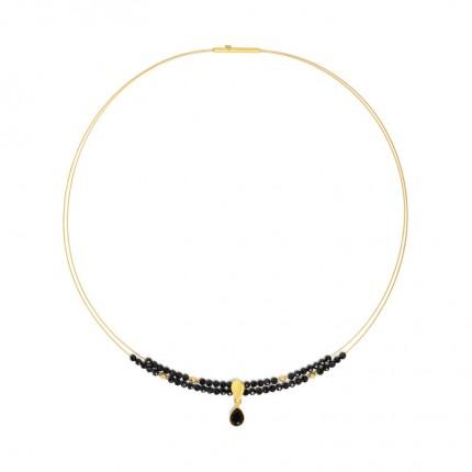 BERND WOLF Collier AQUENIA Silber Goldplattierung Spinell 84125496-43