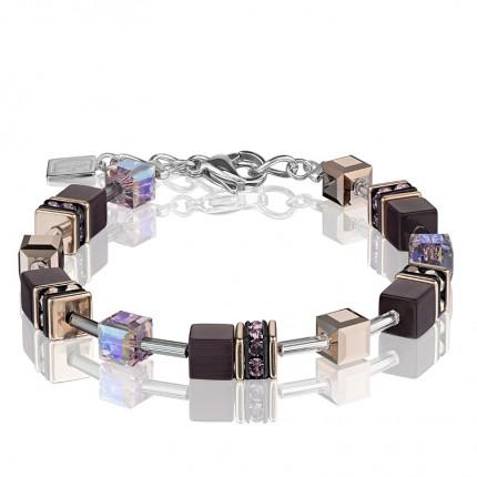 COEUR DE LION Armband Geo Cube Amethyst 4016/30-0824