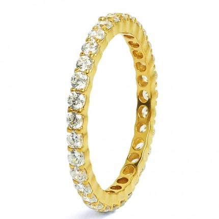 BERND WOLF Ring Silber Goldplattiert WELLAS Zirkonia 54050156