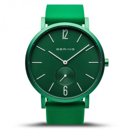 Bering Armbanduhr Unisex Aurora Silikonband Grün 16940-899