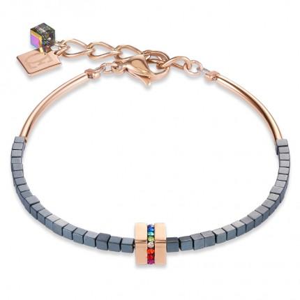 COEUR DE LION Armband Hämatit Roségold Multicolor 4966/30-1500